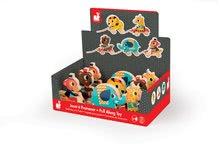 Ťahacie hračky - Drevený medveď Janod zvieratko z cirkusu na ťahanie so zvončekom od 12 mes_2