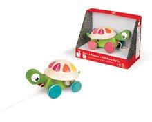 Ťahacie hračky - Drevená korytnačka Pull Along Janod na ťahanie od 12 mes_1
