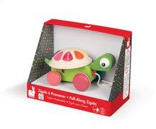 Ťahacie hračky - Drevená korytnačka Pull Along Janod na ťahanie od 12 mes_2