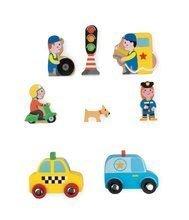 Dřevěná dětská pohádka Život ve městě Mini Story Janod 8 dílků od 3-6 let