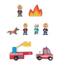 Detská drevená rozprávka Požiarnici Mini Story Janod 8 dielov od 3-6 rokov