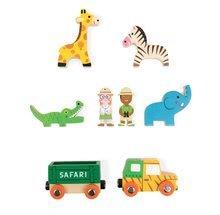 Dřevěná pohádka Safari Park Mini Story Janod se 7 postavičkami od 3-6 let