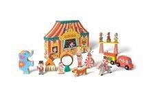 Dřevěná stavebnice Cirkus Story Set Box Janod 19 dílů