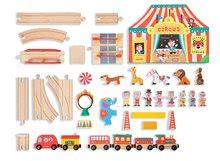 Autodráhy - Drevená magnetická stavebnica Express cirkus Story Set Janod _0