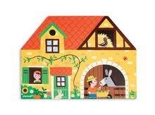 Garáže - Drevená stavebnica Farma Story Set Box Janod so zvieratkami 23 dielov_0