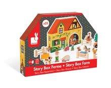 Garáže - Drevená stavebnica Farma Story Set Box Janod so zvieratkami 23 dielov_2