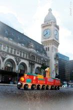 Poľnohospodárske stroje - Drevený magnetický vláčik Cirkus Story Set Janod so žirafou od 18 mes_1