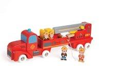 Dřevěné hasičské auto Story Set Janod se 4 figurkami