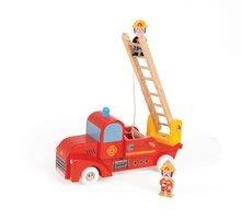 Dřevěné hasičské auto Story Set Janod s 2 figurkami od 24 měsíců