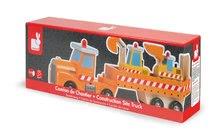 Nákladné autá - Drevený kamión Story Set Janod s bagrom a nakladačom od 24 mes_1