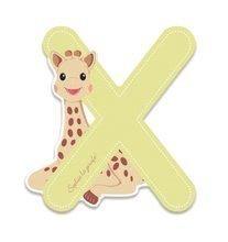 Dřevěné písmeno X Sophie The Giraffe Janod lepící 7 cm béžové