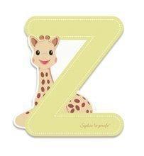 Dřevěné písmeno Z Sophie The Giraffe Janod lepící 7 cm béžové