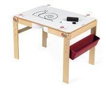 Dřevěná školní lavice a tabule Splash Janod 2v1 magnetická, polohovatelná s poličkou a doplňky od 3 let