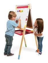 Školské tabule - Drevená školská tabuľa Graffiti Splash Janod magnetická, obojstranná a polohovateľná s 13 doplnkami od 3 rokov_2
