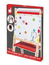 Školské tabule - Drevená školská tabuľa Graffiti Splash Janod magnetická, obojstranná a polohovateľná s 13 doplnkami od 3 rokov_3