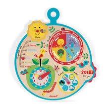 Drevený lunárny kalendár pre deti Over time Janod v angličtine od 3-8 rokov