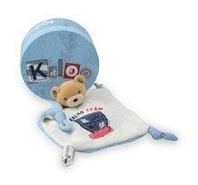 Hračky na maznanie a usínanie - Plyšový medvedík na maznanie Doudou Team Kaloo 20 cm v darčekovom balení pre najmenších modrý_0