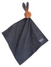 Plyšový zajačik na maznanie Blue Denim Doudou 18 cm v darčekovej krabičke