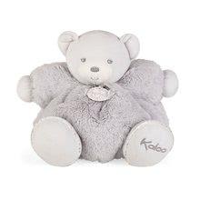 Plyšový medvídek s chrastítkem Perle Chubby Kaloo 30 cm v luxusním provedení v dárkové krabičce šedý