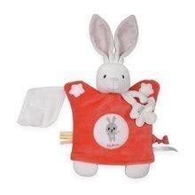Kaloo plyšová bábka – zajačik na maznanie Imagine Doudou 960284 červený