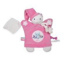 Plišasta lutka medved za crkljanje Imagine Doudou Kaloo 20 cm rožnati svetlikajoči
