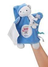 Plišasta lutka medved za crkljanje Imagine Doudou Kaloo 20 cm modra svetlikajoča