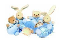 Plyšové zvieratká Blue Mini Chubby 12 cm medveď zajačik a mačička z mäkkej plyše (cena za 1 kus)