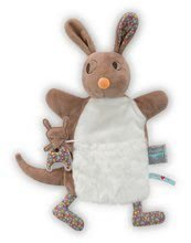 Plišasti kenguru lutkovno gledališče Nopnop-Jumpy Kangaroo Doudou Kaloo 25 cm za najmlajše