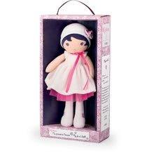 Hadrové panenky - Panenka pro miminka Perle K Tendresse Kaloo v bílých šatech v dárkovém balení 32 cm od 0 měsíců_0