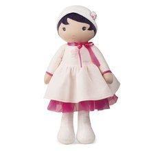 Panenka pro miminka Perle K Tendresse doll XXL Kaloo 80 cm v bílých šatech z jemného textilu