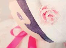 Hadrové panenky - Panenka pro miminka Perle K Tendresse doll XXL Kaloo 80 cm v bílých šatech z jemného textilu od 0 měsíců_3