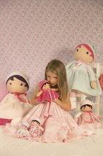 Hadrové panenky - Panenka pro miminka Perle K Tendresse doll XXL Kaloo 80 cm v bílých šatech z jemného textilu od 0 měsíců_6