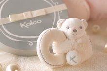 Hrkálky a hryzátka - Plyšový medvedík Perle-Mini Ratles Kaloo s hrkálkou 10 cm pre najmenších krémový_1