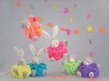 Plyšové medvede - Plyšový medvedík Plume-Mini Neon Kaloo 12 cm pre najmenších fialový_1