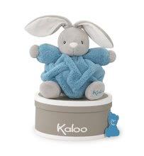 Hračky pre bábätká - Plyšový zajačik Plume-Indigo Rabbit Kaloo 18 cm v darčekovom balení pre najmenších modrý_0