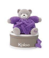 Plyšové medvede - Plyšový medveď Chubby Neon Kaloo 20 cm v darčekovom balení pre najmenších fialový_0