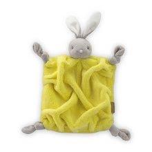 Plyšový zajačik na maznanie Neon Doudou Kaloo 20 cm v darčekovom balení pre najmenších žltý