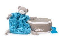 Kaloo plyšový medveď na maznanie Neon Doudou 962327 modrý