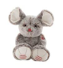 Plyšová myška Rouge Kaloo Large 38 cm z jemného plyše pro nejmenší děti krémově-šedá