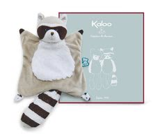 Plüss mosómedve dédelgetésre Doudou Leon Raccoon Classique Filoo Kaloo 20 cm ajándékdobozban K962799