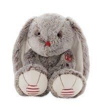 Plyšový zajíc Rouge Kaloo Large 38 cm z jemného plyše pro nejmenší děti krémově-šedý