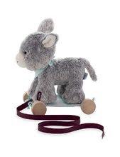 Ťahacie hračky - Plyšový somárik na ťahanie Les Amis 2v1 Kaloo so zvončekom 27 cm z jemného plyšu pre najmenších šedý_1
