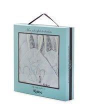 Oslík na mazlení Les Amis Doudou Kaloo 2 kusy pro nejmenší bílo-šedý