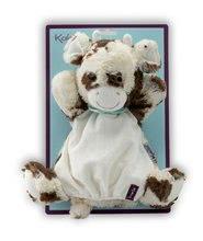 Bábky pre najmenších - Plyšová kravička bábkové divadlo Les Amis-Milky Vache Doudou Kaloo 30 cm pre najmenších_1