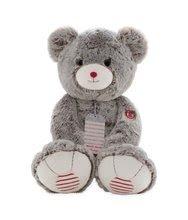 Plyšový medvěd Rouge Kaloo Prestige XL 55 cm z jemného plyše pro nejmenší děti krémově-šedý