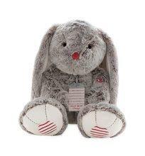 Plyšový králíček Rouge Kaloo Prestige XL 55 cm z jemného plyše pro nejmenší děti krémově-šedý