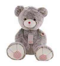 Plyšový medvěd Rouge Kaloo Prestige XXL 70 cm z jemného plyše pro nejmenší děti krémově-šedý