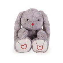 Plyšový zajačik Rouge Kaloo s výšivkou pre najmenšie deti 38 cm šedý