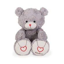 Plyšový medvedík Rouge Kaloo s výšivkou pre najmenšie deti 38 cm šedý