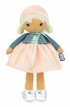 Bábika pre bábätká Chloe K Doll Tendresse Kaloo 25 cm v riflovom kabátiku z jemného textilu v darčekovom balení od 0 me